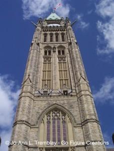 Peace Tower, Parliament Hill in Ottawa, Canada